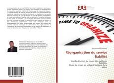 Buchcover von Réorganisation du service fiabilité