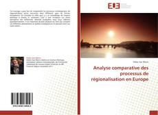 Capa do livro de Analyse comparative des processus de régionalisation en Europe