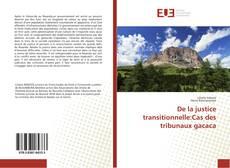 Buchcover von De la justice transitionnelle:Cas des tribunaux gacaca