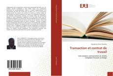 Bookcover of Transaction et contrat de travail