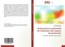 Couverture de Performance et optimalité de l'utilisation des moyens de production
