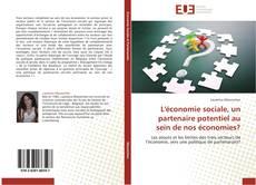 Buchcover von L'économie sociale, un partenaire potentiel au sein de nos économies?