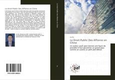 Couverture de Le Droit Public Des Affaires en Chine