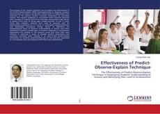 Bookcover of Effectiveness of Predict-Observe-Explain Technique