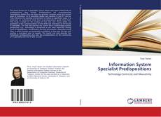 Bookcover of Information System Specialist Predispositions