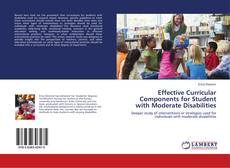 Couverture de Effective Curricular Components for Student with Moderate Disabilities