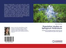 Bookcover of Population studies on Sphagnum fimbriatum