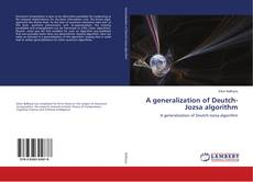 Bookcover of A generalization of Deutch-Jozsa algorithm