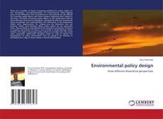 Buchcover von Environmental policy design