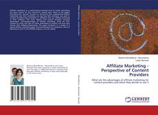Bookcover of Affiliate Marketing - Perspective of Content Providers
