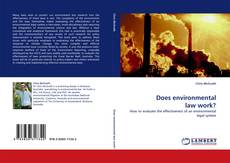 Bookcover of Does environmental law work?