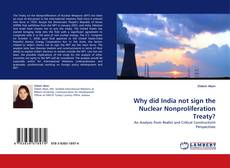 Buchcover von Why did India not sign the Nuclear Nonproliferation Treaty?