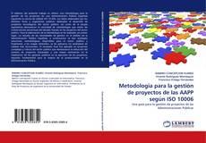 Capa do livro de Metodologia para la gestión de proyectos de las AAPP según ISO 10006