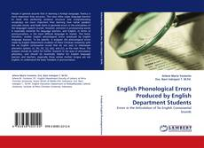 Capa do livro de English Phonological Errors Produced by English Department Students