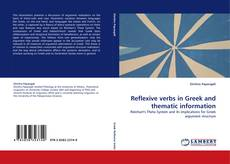 Buchcover von Reflexive verbs in Greek and thematic information
