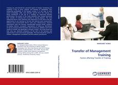 Couverture de Transfer of Management Training