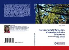 Copertina di Environmental information, knowledge,attitudes and actions