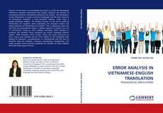 Bookcover of ERROR ANALYSIS IN VIETNAMESE-ENGLISH TRANSLATION