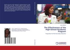 Обложка The Effectiveness of the High-School Academic Program