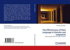 The Effectiveness of Plain Language in Statutes and Judgments kitap kapağı
