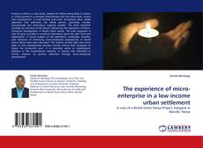 Bookcover of The experience of micro-enterprise in a low income urban settlement
