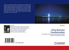 Bookcover of Army Business Transformation
