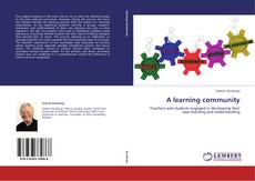 Bookcover of A learning community