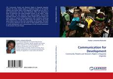 Capa do livro de Communication for Development