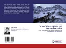 Capa do livro de Clans' State Capture and Regime Durability