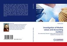 Capa do livro de Investigation of Market values and Accounting numbers