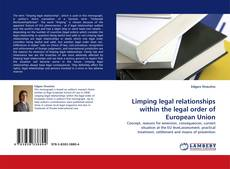 Bookcover of Limping legal relationships within the legal order of European Union