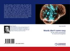 Bookcover of Words don't come easy