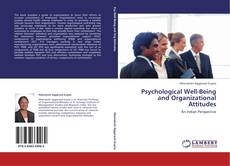 Couverture de Psychological  Well-Being and Organizational Attitudes