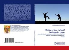 Bookcover of Decay of our cultural heritage in stone