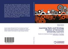 Copertina di Learning Style and Strategy Choices of Armenian University Learners