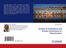 Обложка Quality of institutions and private investments in infrastructure