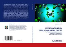 Capa do livro de INVESTIGATIONS ON TRANSITION METAL OXIDES