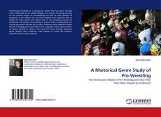 Buchcover von A Rhetorical Genre Study of Pro-Wrestling