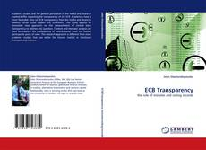 Bookcover of ECB Transparency