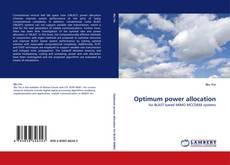 Capa do livro de Optimum power allocation