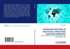 Portada del libro de ESTIMATION METHODS IN MULTILEVEL STRUCTURAL EQUATION MODELING