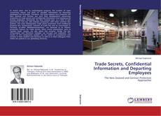 Bookcover of Trade Secrets, Confidential Information and Departing Employees