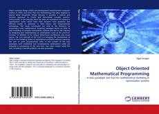 Bookcover of Object Oriented Mathematical Programming