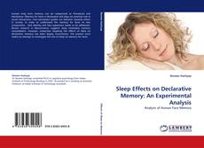 Buchcover von Sleep Effects on Declarative Memory: An Experimental Analysis