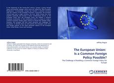 Bookcover of The European Union:   Is a Common Foreign Policy Possible?