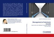 Borítókép a  Management of electronic records - hoz