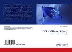Bookcover of ESDP and Human Security
