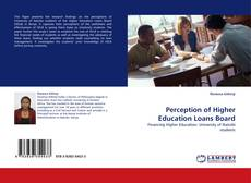 Capa do livro de Perception of Higher Education Loans Board