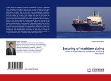 Bookcover of Securing of maritime claims
