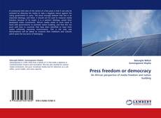 Bookcover of Press freedom or democracy
